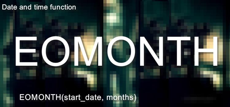 EOMONTH関数 当月末や来月末の日付を求めるにはExcel