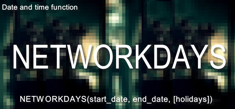 NETWORKDAYS関数