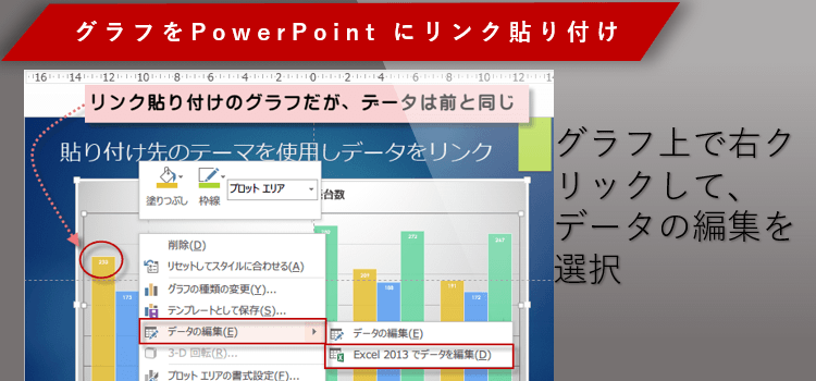 埋め込み パワーポイント エクセル