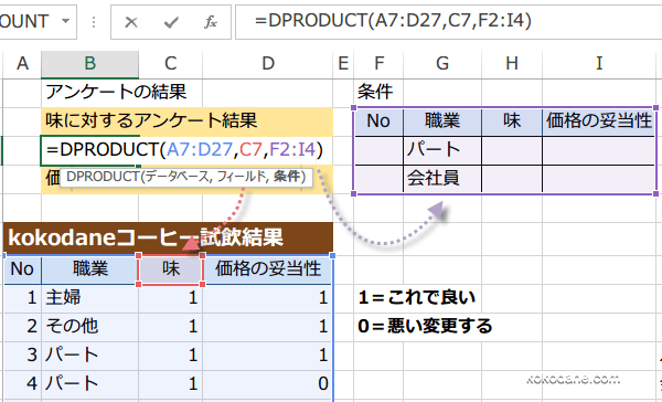 DPRODUCT関数使い方2