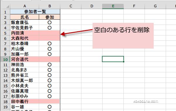 空白セル 空欄セル のある行だけを一気に削除するには Excel