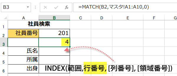 INDEX,MATCH関数1
